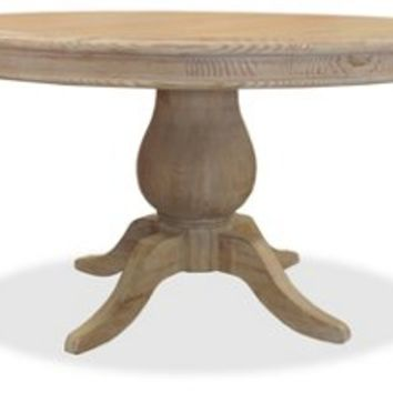 French Round Dining Table, Natural