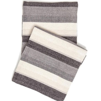 Montego Stripe Grey Chenille Throw