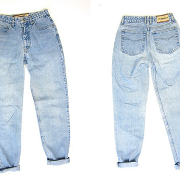 80s High Rise Jeans Washed Out Blue Jeans Straight Leg Mom Jeans Vintage 1980s Z Cavaricci Jeans High Waist Faded Blue Denim Womens Small