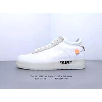 NIKE AIR FORCE 1 '07 x OFF-WHITE Joint style tide brand wild low-top shoes white