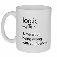 Definition of Logic Funny Coffee Mug