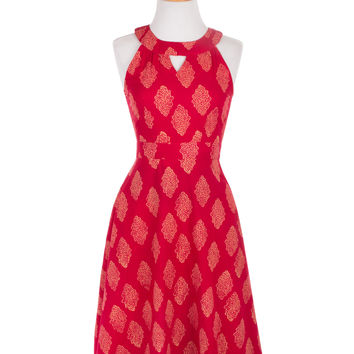 Afternoon Allure Dress - Red