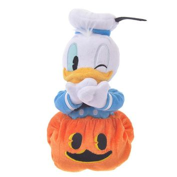 Disney Store Japan Donald Halloween Pumpkin Reversible Plush New with Tags