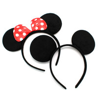 Mickey Ear Headband Accessories Children Hair Accessories Mickey Minnie Mouse Ears Headbands Birthday Party Gifts C84-C85