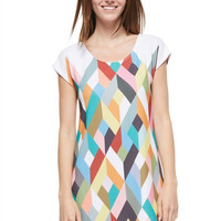 Geometric Print Dress - Jade Multi