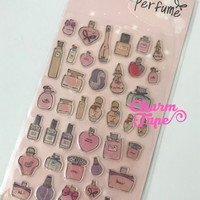 Perfume Bottles Gel Sticker with mini glitter by Funny SS520