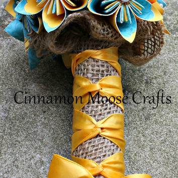 Custom Bouquet / Bridesmaid Bouquet / Flower Girl Bouquet / Toss Bouquet / Wedding Flowers / Paper Flowers / Individual Bouquet