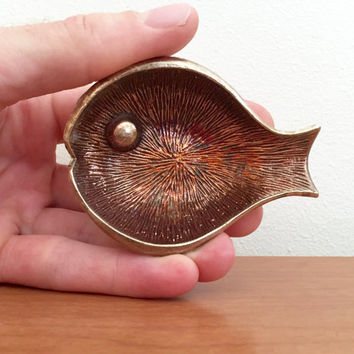 Brass Fish Pin Dish / Ashtray