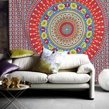 The Addilyn Mandala Bohemian Bedspread Throw Wall Dorm Beach Tapestry