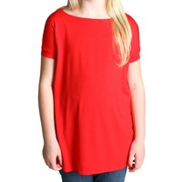 Red Piko Kids Short Sleeve Top