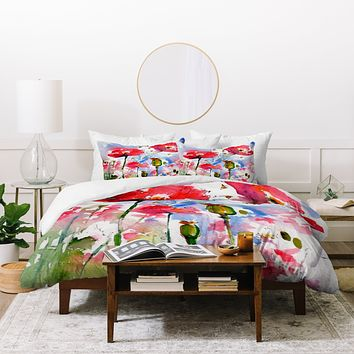 Ginette Fine Art My Lovely Garden Duvet Cover