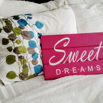 Wood Sign - Sweet Dreams Sign, Bedroom Decor, Childs sign, New Baby Gift, Baby Shower Gift