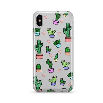 @Okitssteph X Milkyway Cases Cactus Love - Clear Case Cover