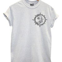 Sun and Moon Pocket Logo T Shirt