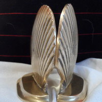 Brass Bookends Seashell Vintage 1930