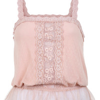 Pink Daisy Lace Cami Top - View All  - Sale & Offers