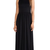 Susana Monaco Blaire Open Back Maxi Dress in Black