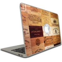 Macbook Air or Macbook Pro (13 inch) Decal - France - Wine Cases of Bordeaux - Vinyl, Removable Skin