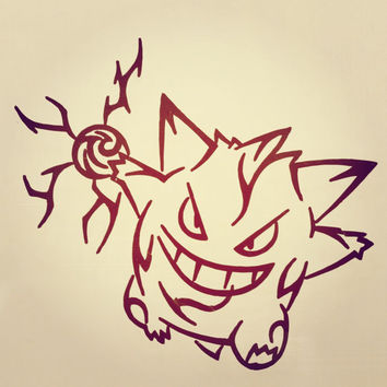 Pokemon Gengar Vinyl Decal Sticker