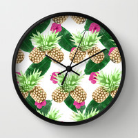 Tropical Fruits Wall Clock by Grace