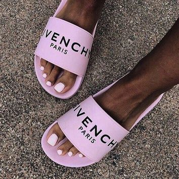shosouvenir GIVENCHY PARIS andals Comfortable Loose Slippers