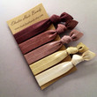 The Chocolate Ombre Hair Tie-Ponytail Holder Collection - 5 Elastic Hair Ties