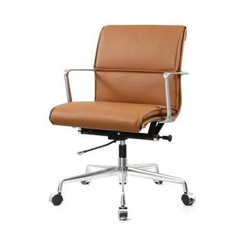 Peanut Butter Leather Desk Chair