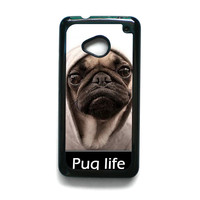 New Design Funny Hilarious Pug Life Parody fans For HTC ONE M7/HTC ONE M8/HTC ONE M9 Phone case ZG