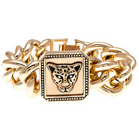 The Chained Up Tiger Bracelet in Gold
