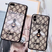 GUCCI New fashion iPhone more letter bee case toughened glass