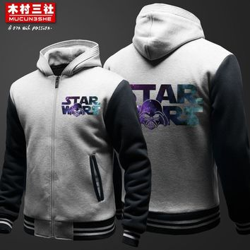 Star Wars Star Wars Darth Vader Awakening Force Thick Coat Cosplay hoodies free shipping