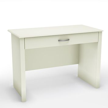 Contemporary White Laptop Computer Desk