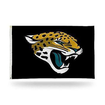 IFSB-RICFGB0903-NFL Jacksonville Jaguars Team Name Banner Flag 3-Foot by 5-Foot