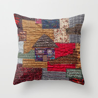 Little house on the prairie Throw Pillow by Bozena Wojtaszek