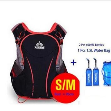 Running Vests Jogging AONIJIE Unisex Marathon Hydration Vest Pack Running Water Bag Cycling Hiking Bag Outdoor Sport light weight cycling Bag KO_11_1