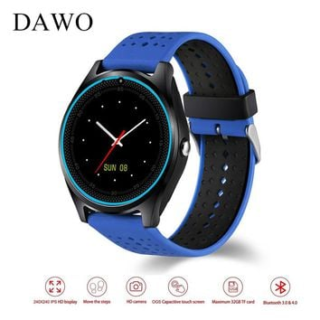 DAWO V9 Bluetooth Smart Watch Camera  Pedometer Health Sport Clock Smartwatch SIM Card Men Women Fitness Watch PK DZ09 GT08 A9