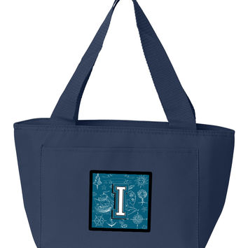 Letter I Sea Doodles Initial Alphabet Lunch Bag CJ2014-INA-8808