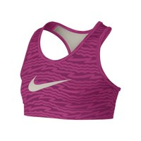 Nike Pro Hypercool Fitted Graphic Girls' Sports Bra - Vivid Pink
