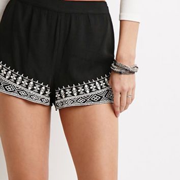 Diamond Embroidered Shorts