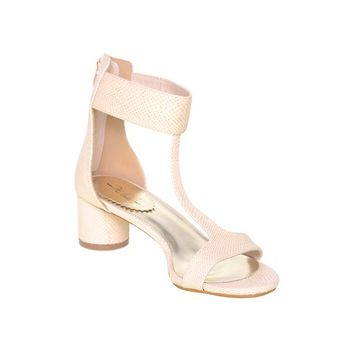 Esmeralda Heels- Cream 1940s Chanel Inspired Mid-Heels Kitten Sandal Shaped Elegant Shoes