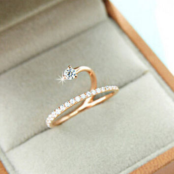 Trendy Gold Plated Party Cocktail Ring For Women Tj023