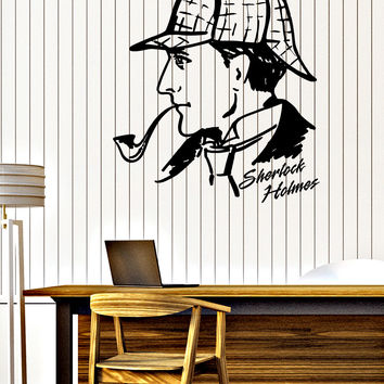 Wall Sticker Decal Detective Sherlock Holmes Baker Street Interior Decor Unique Gift z4693
