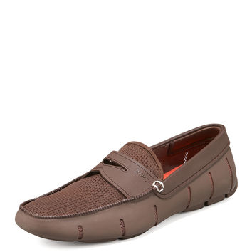 Rubber Penny Loafer, Brown - Swims