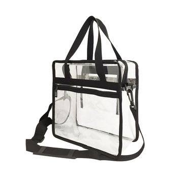 Custom NFL stadium approved PVC bag Transparent Clear PVC Plastic Make up Tote Bag