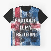 """""""Football is my religion - Island"""" Graphic T-Shirt by ValentinaHramov 