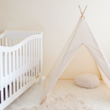 Kids Natural Canvas Teepee