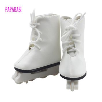 """1Pair Snow Boots Shoes for 18"""" 45CM American Girls Dolls, fashion skating sport shoes for Alexander doll accessory baby gift"""