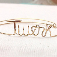 Custom Wire Twerk Bracelet (MADE TO ORDER) Dance Bracelet, Silver Bracelet, Gold Bracelet, Copper Bracelet, Personalized Bracelet, Popular
