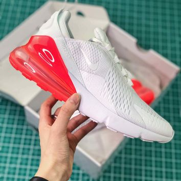 Nike Air Max 270 White Red Ah8050-103 Sport Running Shoes - Best Online Sale