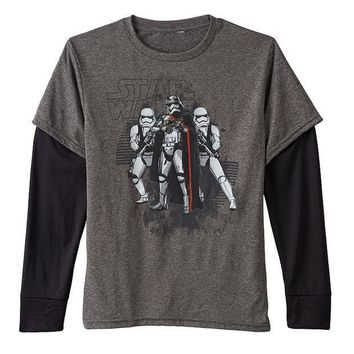 ESB7GX Star Wars: Episode VII The Force Awakens Vile Leader Mock-Layer Tee - Boys 8-20 Size